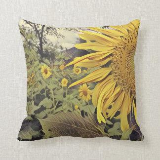 Almohada de tiro con diseño del girasol