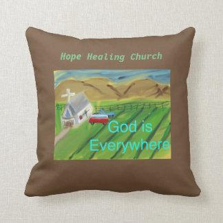 Almohada de tiro cristiana de Jesús de la iglesia