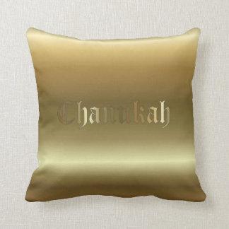 Almohada de tiro cuadrada de oro judía de Chanukah