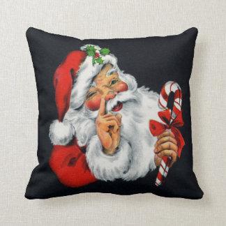 Cojín Decorativo Almohada de tiro cuadrada del navidad retro de