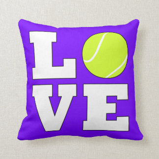 Almohada de tiro cuadrada linda del amor del tenis