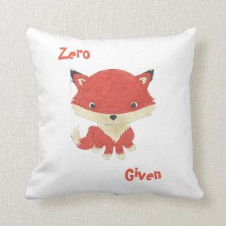 Almohada de tiro dada Fox cero