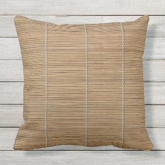 """Almohada de tiro de bambú 20"""" x 20"""""""