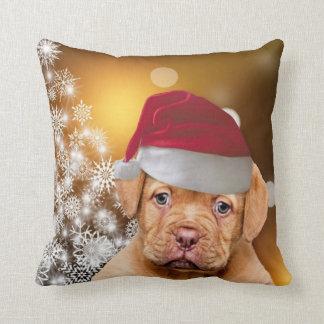 Almohada de tiro de Christmas Dogue de Bordeaux