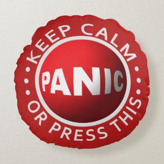 Almohada de tiro de encargo del botón de pánico cojín redondo