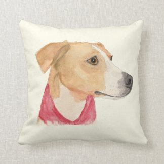 Almohada de tiro de la acuarela del beagle del