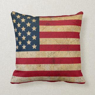 Cojín Decorativo Almohada de tiro de la bandera americana del