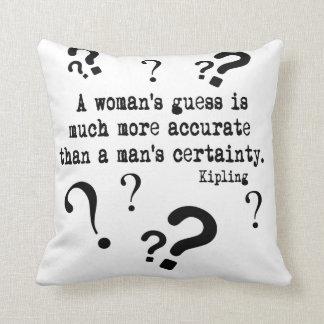 Almohada de tiro de la conjetura de una mujer