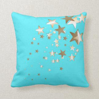 Almohada de tiro de la estrella de la aguamarina