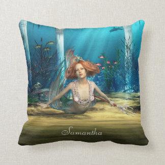 Almohada de tiro de la fantasía de la sirena