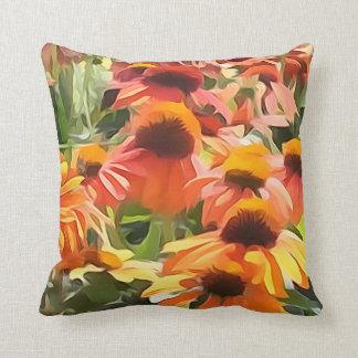 Almohada de tiro de la flor del cono