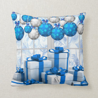 """""""Frosty Christmas Morning"""" Throw Pillow 16"""" x 16"""""""