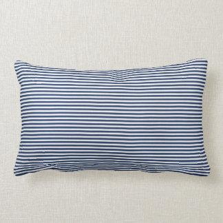 Almohada de tiro de la raya azul