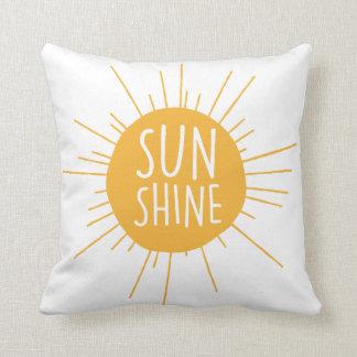 Almohada de tiro de la sol