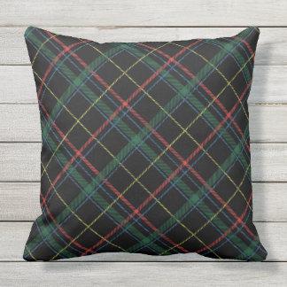 Cojín Decorativo Almohada de tiro de la tela escocesa del día de