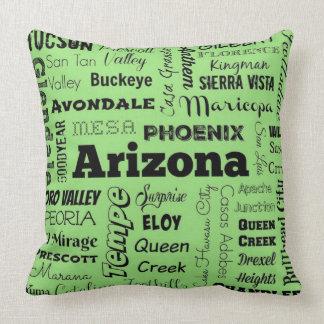 Almohada de tiro de la tipografía de Arizona en