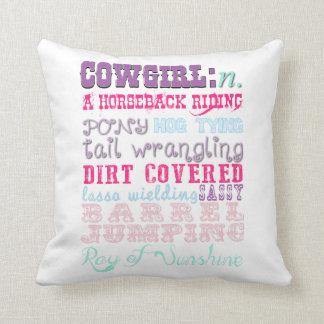Almohada de tiro de la vaquera