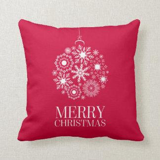 Almohada de tiro de las Felices Navidad del