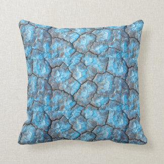 Almohada de tiro de las rocas azules