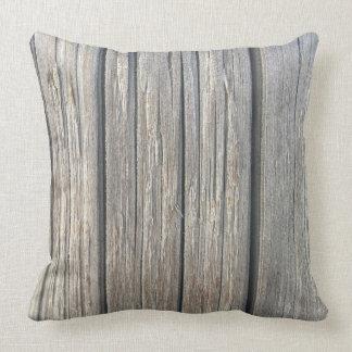 Almohada de tiro de madera ligera de la textura