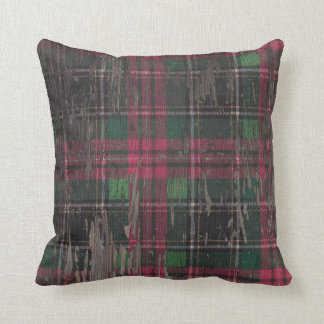 Almohada de tiro de madera rústica de la tela