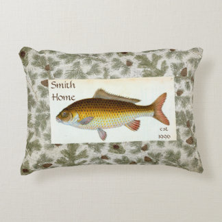 Almohada de tiro de Pinecones de los pescados de