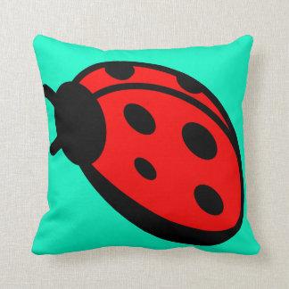 Almohada de tiro de señora Bug Turquoise