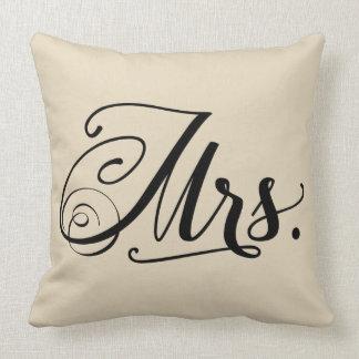 Almohada de tiro de señora Typography Square