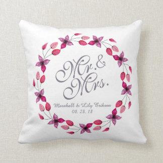 Almohada de tiro de Sr. y de señora Elegant Floral