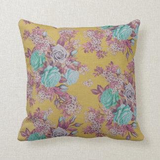 almohada de tiro decorativa de la flor hermosa