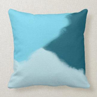 Almohada de tiro decorativa del extracto del azul