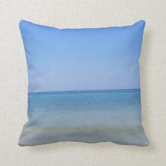 Almohada de tiro del agua azul