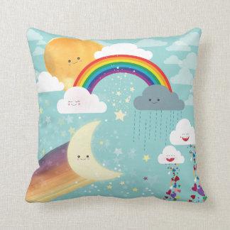 Almohada de tiro del arco iris