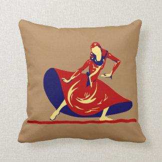 Almohada de tiro del bailarín de la mujer