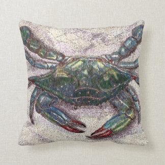 Almohada de tiro del cangrejo azul de la bahía de