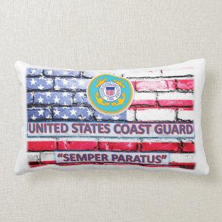 Almohada de tiro del guardacostas de la bandera