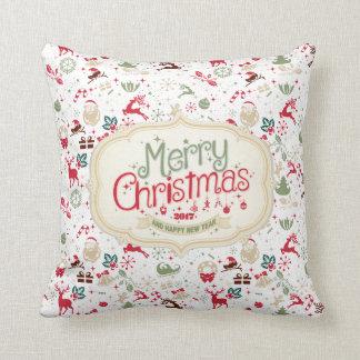 Almohada de tiro del navidad elegante de Ditsy y