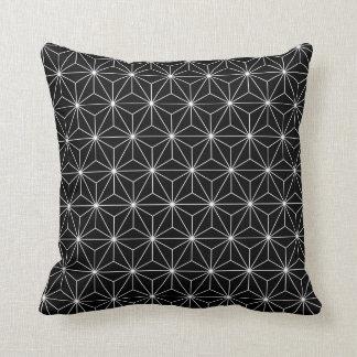 Almohada de tiro del negro del modelo de Asanoha