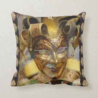 Almohada de tiro del oro de la máscara del