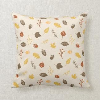 Almohada de tiro del otoño del modelo del follaje cojín decorativo