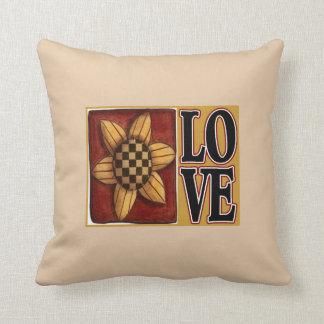 Almohada de tiro del país del amor del girasol