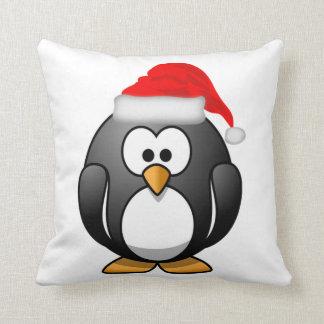 Almohada de tiro del pingüino del navidad