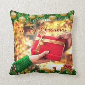 """Christmas Gift Throw Pillow 16"""" x 16"""""""