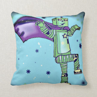 Almohada de tiro del robot del super héroe de la