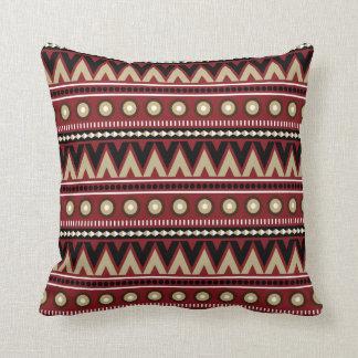 Almohada de tiro elegante moderna azteca del oro