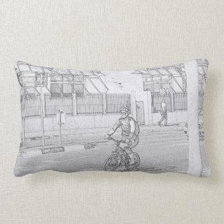 Almohada de tiro enrrollada de señora Urban Sketch