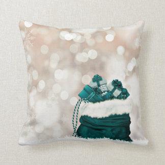 Almohada de tiro esmeralda de los regalos de