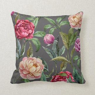 Almohada de tiro floral bohemia del amortiguador