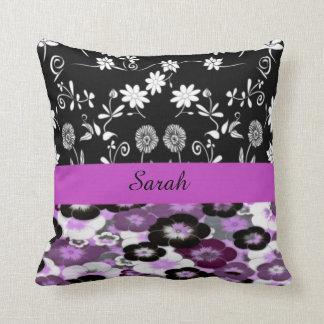 almohada de tiro floral conocida personalizada