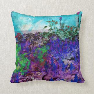 Almohada de tiro floral de la acuarela abstracta